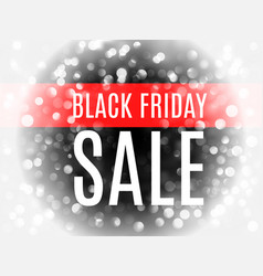 black friday advertising banner with white bokeh vector image