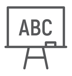 blackboard line icon school and education vector image