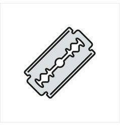 blade razor icon on white vector image