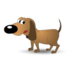 brown dog vector image