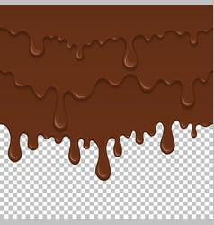 Brown sticky liquid seamless element vector