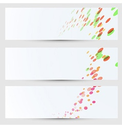 Cards bright colorful circles collection vector