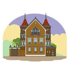Castle in the landscape vector