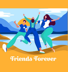 celebrating friendship day concept vector image