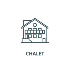 chalet line icon chalet outline sign vector image