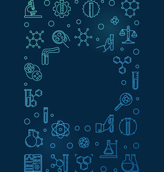 chemistry colorful outline vertical banner vector image