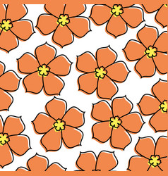 chinese flower sakura decoration seamless pattern vector image