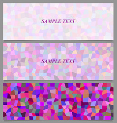 Colored tiled rectangle pattern banner design set vector