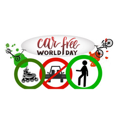 Composition of hand drawn lettering world car vector