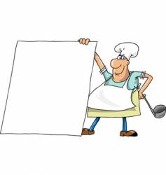 cook shows the menu vector image