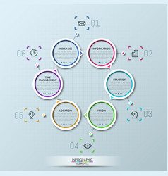 Creative infographic design template vector