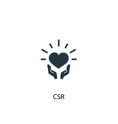 Csr icon simple element concept vector