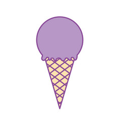 delicious ice cream cone vector image