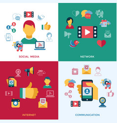 digital social media and communication vector image