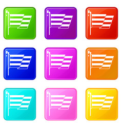 Flag lgbt set 9 vector