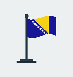 Flag of bosniaflag stand vector
