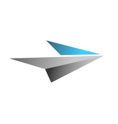 Flying paper logo design vector