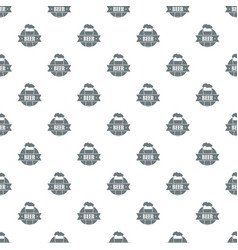 glass beer pattern seamless vector image