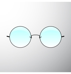Glasses icon Simple isolated symbol vector image