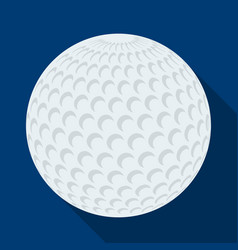 golf ballgolf club single icon in flat style vector image