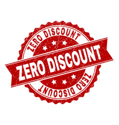 grunge textured zero discount stamp seal vector image