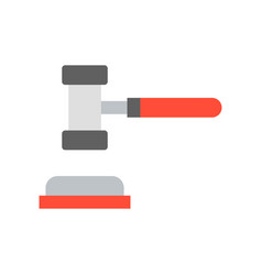 Hammer and gavel judge related icon vector