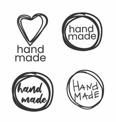 Handmade badges labels and logo elements retro vector