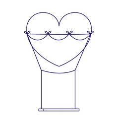 Heart swing icon flat design vector