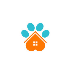 house pet dog logo vector image