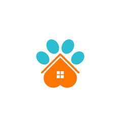 House pet dog logo vector