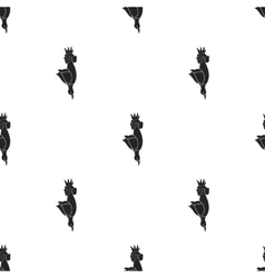 Hunted duck icon in black style isolated on white vector image
