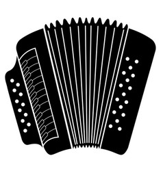 isolated accordion icon musical instrument vector image