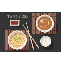 Japanese cuisine set vector