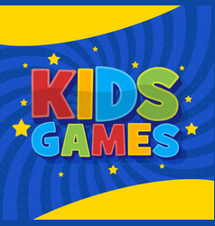 kids games background in cartoon style bright vector image