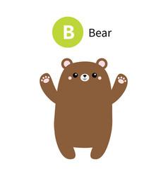 Letter b bear zoo animal alphabet english abc vector