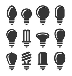 Light bulbs icons set on white background vector
