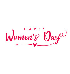 March 8 happy womens day elegant lettering banner vector
