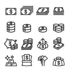 Money asset property coin banknote investment vector