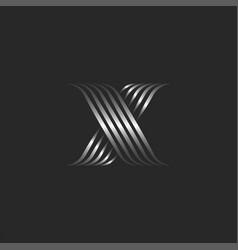 monogram letter x initial logo calligraphic mark vector image