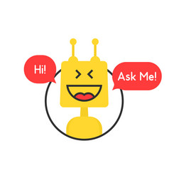 Online chatbot like tech or financial advisor vector