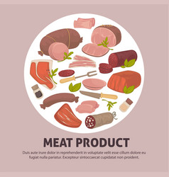 organic delicious raw fresh meat product vector image