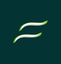 outline letter f creative logo design vector image