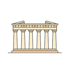 parthenon in athens icon vector image