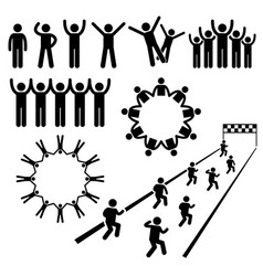 People community welfare stick figure pictogram vector