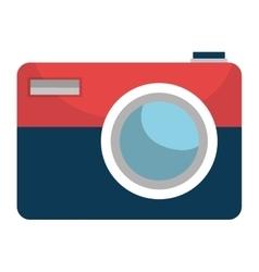 Photographic camera isolated icon design vector