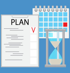 Planning time business concept flat vector