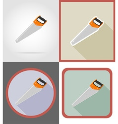 repair tools flat icons 06 vector image