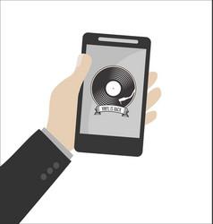 Retro vinyl design message vector