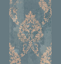 Rococo pattern background ornamented vector