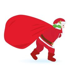 Santa Claus carrying huge sack vector